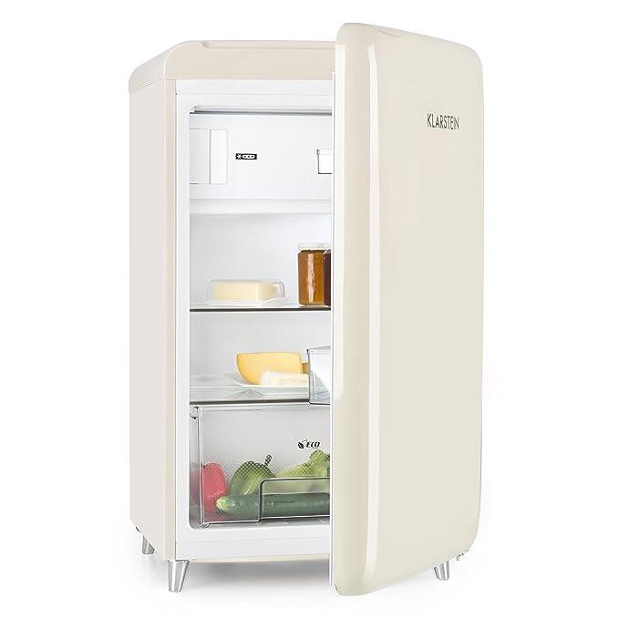 KLARSTEIN Popart Cream - Nevera, refrigerador, diseño Retro, 108 l ...