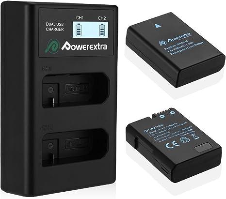 Amazon.com: Powerextra 2 Pack Batería y Cargador Dual LCD ...