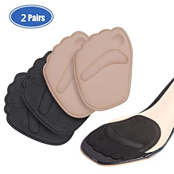Foot Metatarsal Pads for Women, 2 Pairs Anti Slip Shock Absorption Ball of Foot Cushions for Reduce