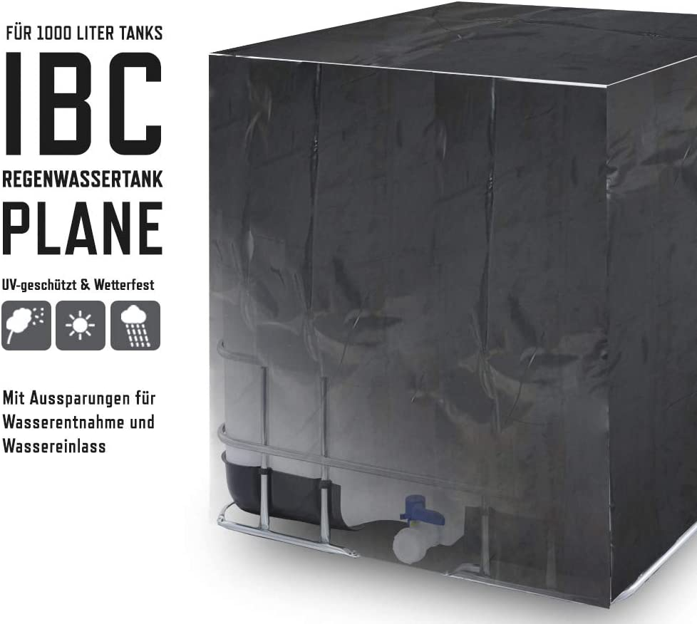 Abdeckplane Schutzhülle Schutzplane Cover IBC Behälter Regen Wasser Tank 1000l