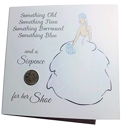 Wedding Bride Card With Lucky Sixpence Greeting Card
