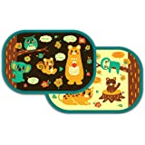Car Window Shades for Baby 2 Pack, Baby Side Window Car Sun Shades Forest Animals