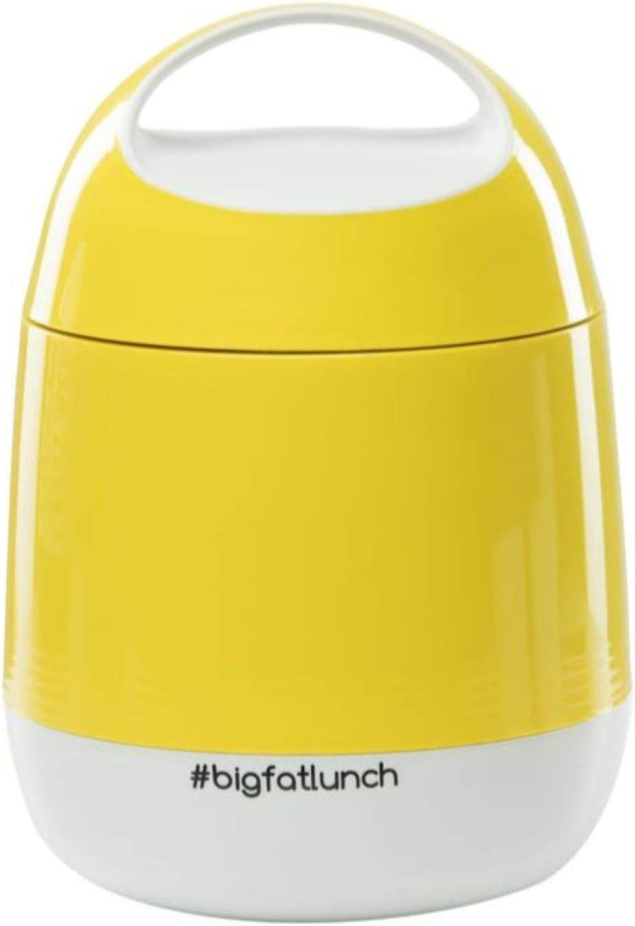Food Thermos Lunchbox for Kids, Adults, Vacuum Insulated Hot 8 hours Food Flask. 2 Bowls Inside, Leak Proof, BPA Free, holds 40oz, Dishwasher Safe, Tiffin Box for HOT Food, Bento (Yellow)