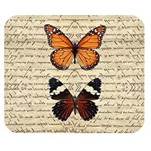 Vintage Butterfly Retro Style Dictionary Personalized Rectangle Mouse Pad by runtopwell