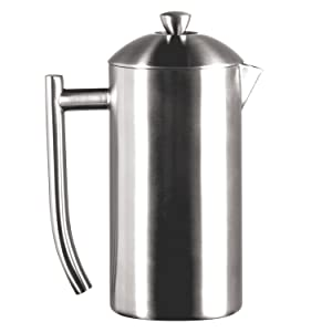 Frieling USA Double Wall Stainless Steel French Press Coffee Maker with Zero Sediment Dual Screen, Brushed, 23-Ounce