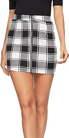 Minifalda Mujer Elegantes Primavera Verano Classic Cuadros Falda ...