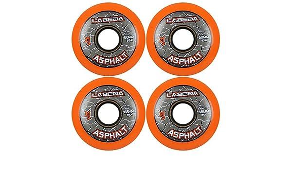 Pinza Labeda asfalto duro Hockey sobre ruedas de Skate - 4 unidades: Amazon.es: Juguetes y juegos