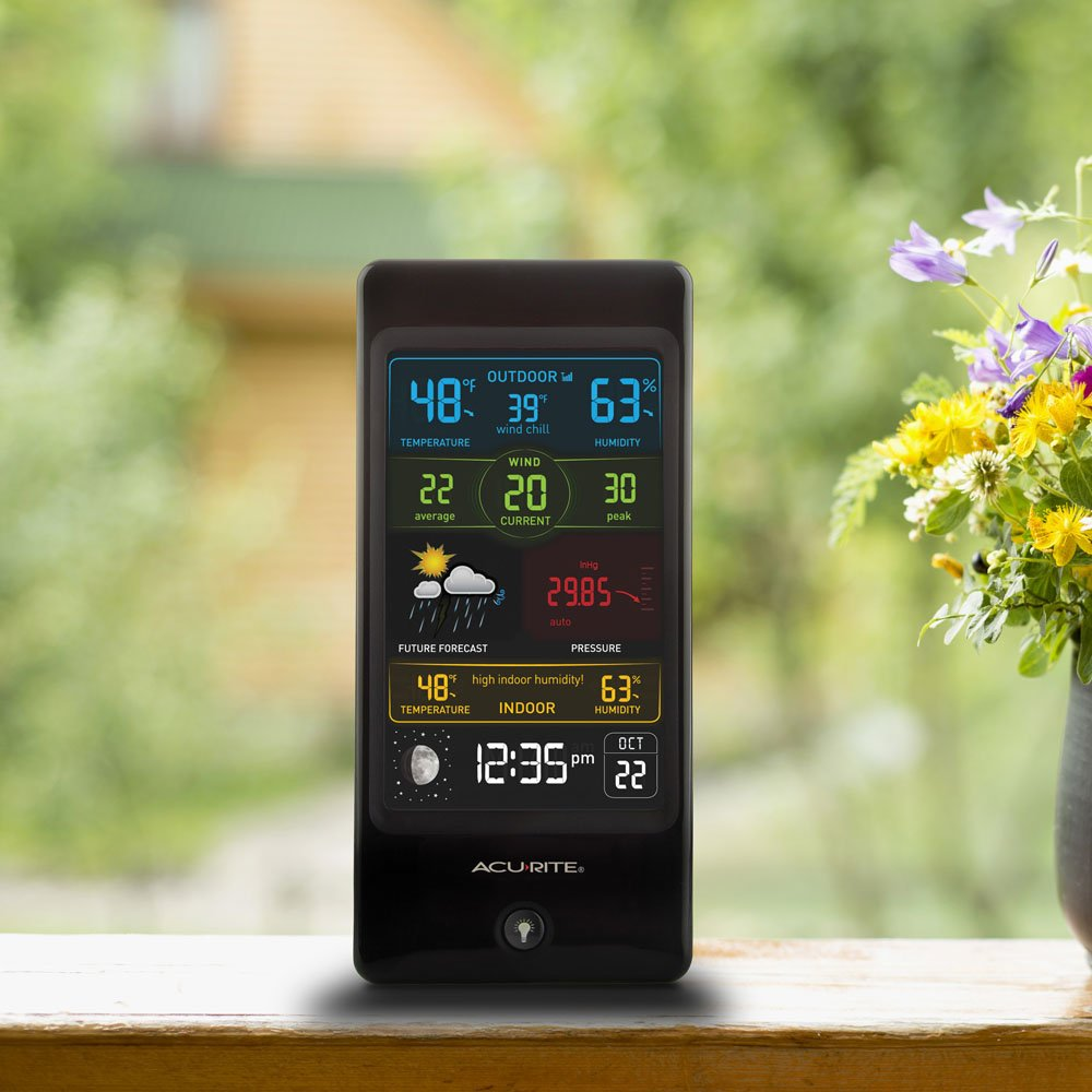 amazon com acurite 01605 pro color weather station with wind