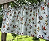 Cheap Birds in Nest Robin Cardinal Pretty Songbirds Bird Nests Azure Handcrafted Curtain Valance