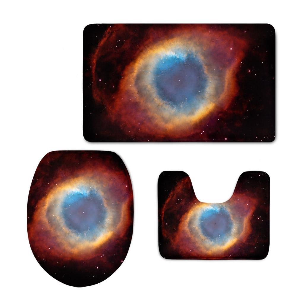 LLW Farbiger Farbiger Farbiger Planet 3pcs   Set Badezimmer-Matten-Sätze, Badematte + Podest-Matte + Toiletten-Sitz-Abdeckungsmatte, B B07BP4NBMB Duschmatten d963a7