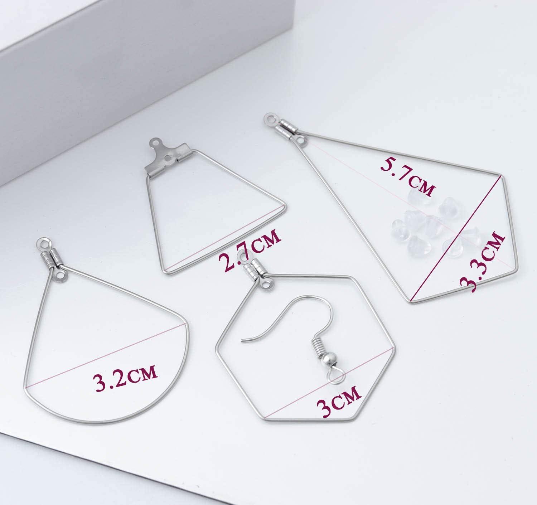 Teardrop and Hoop 32Pcs Stainless Steel Beading Hoop Earring Finding Earring Components for DIY Making Findings