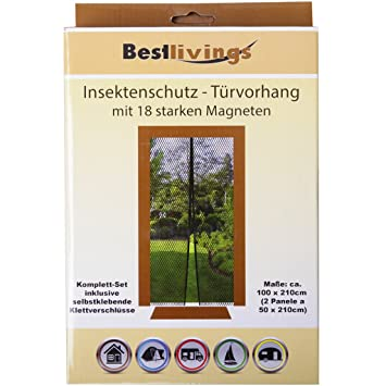 Gut Insektenschutz - Türvorhang mit 18 starken Magneten Mückennetz  IR85