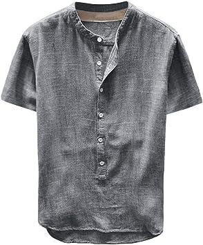 NDGDA Male Tees Shirt Short Sleeve T-Shirt Blouse Tops Mens 3D Printing Shirt