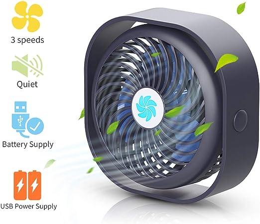 Home Desk Mini Fans Portable Light Mini Fan Summer Office Air Cooler Mini USB Fan Third Wind Speed USB Fan,White