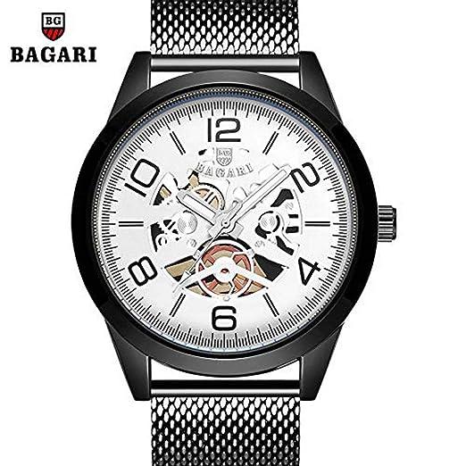 Hermosos Relojes No Data / 2018 Nuevo Reloj de los Hombres Reloj de Cuarzo de Acero Hueco Strip: Amazon.es: Relojes