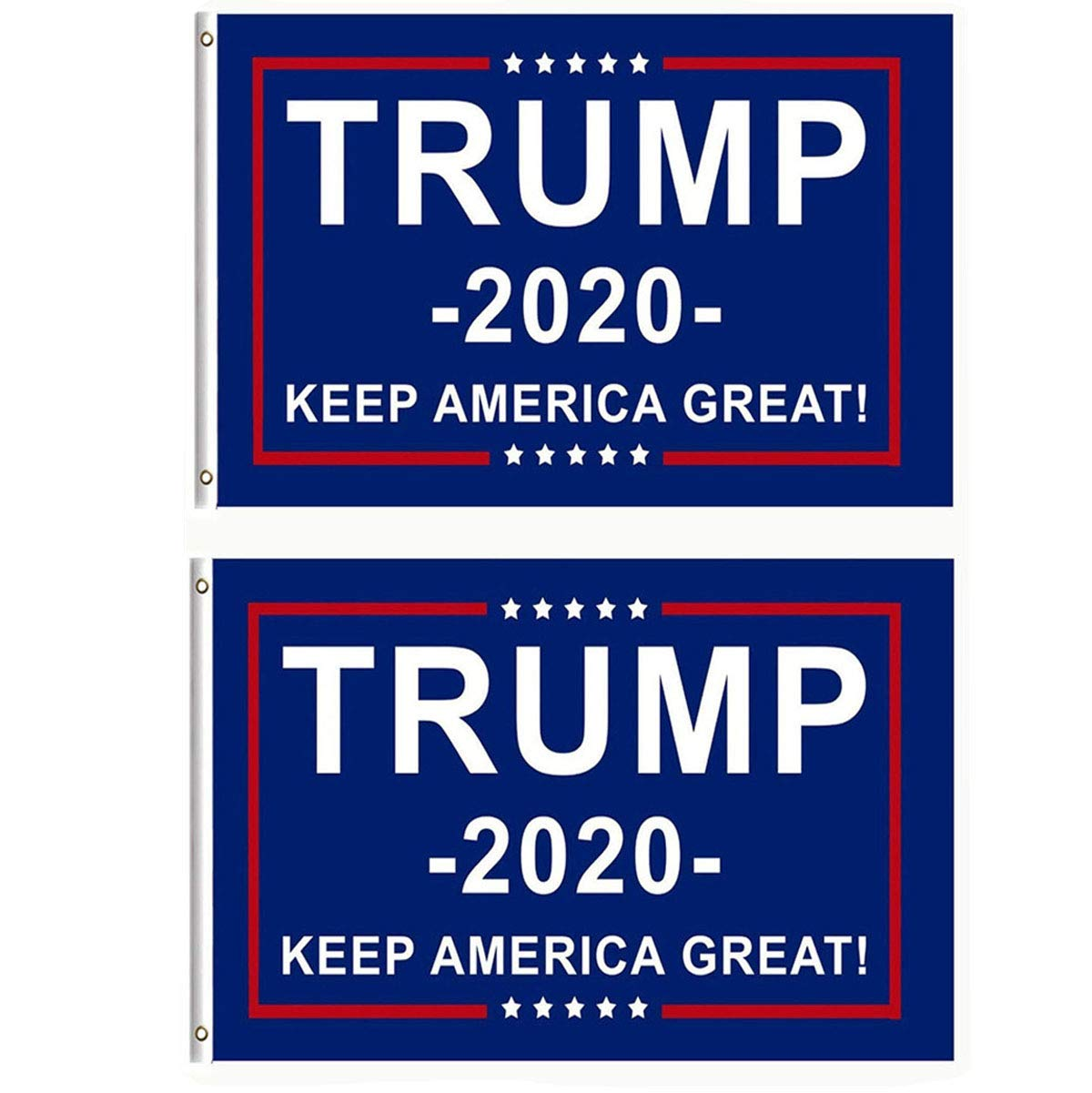 Berkshiled 2 Pieces President Donald Trump Flag 2020 Keep America Great Flag 3×5 Feet With Grommets
