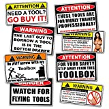 Funny Toolbox Warning Decal Sticker Tool Box Pack Set