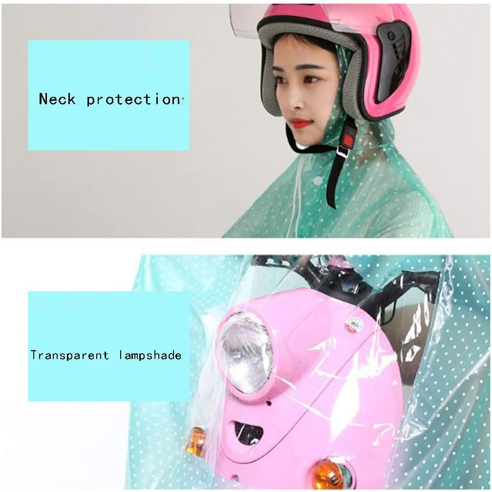 Cheng-poncho Transparent Rainbow Cap Mother And Son Riding Double Cap Corner No Mirror Cover Waterproof Increased Rainbow Cap (Size: 4XL) (color : C) F