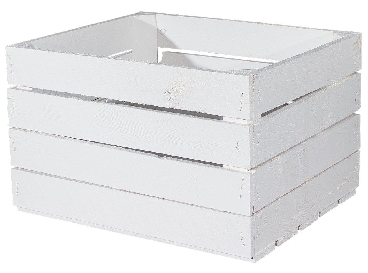 Vinterior 4er-Set weiße Neue Apfelkisten Holzkiste    Obstkiste Weinkiste, Regal, Holzregal, 37b6f5
