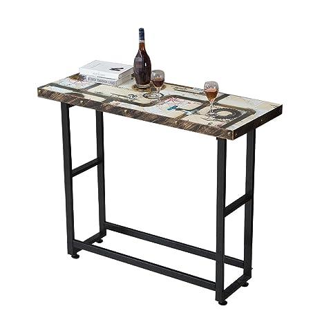 Amazon.com: Mesa de bar LXYFMS para casa, mesa de bar simple ...