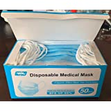 Dylan excellent 50PCS Disposable Face Masks, 3-Layer, Anti Dust Breathable Comfortable Sanitary Personal Health Protection