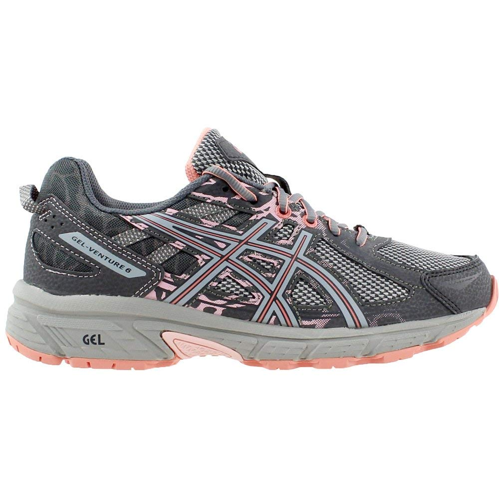 ASICS Gel-Venture 6 Women's Running Shoe, Carbon/Mid Grey/Seashell Pink, 5 M US by ASICS (Image #1)