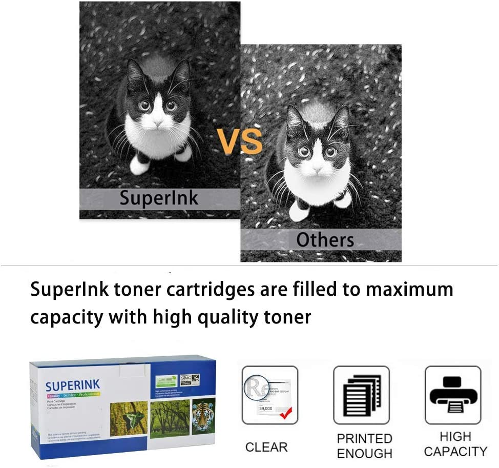 SuperInk Toner Cartridge Replacement Compatible for Canon 126 CRG126 3483B001 to use with ImageClass LBP6200 LBP6200d Multi-Function Printer Black, 2-Pack