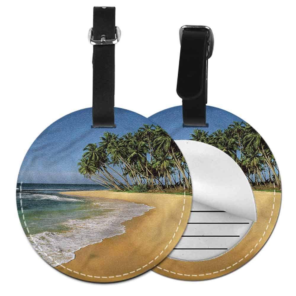 Fashion Address tag Beach,Sunrise Horizon Calm Waves Address Tags