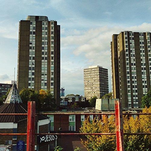 (London Skyline, London Skyline Print, London Wall Art, London Skyline Art, Clapham Junction, Building Print, Clapham, South London)