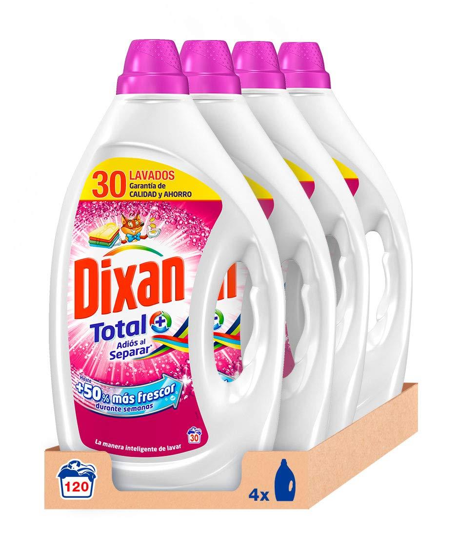 TALLA 120 lavados. Dixan Detergente Líquido Adiós al Separar - Pack de 4, Total: 120 Lavados (6 L)