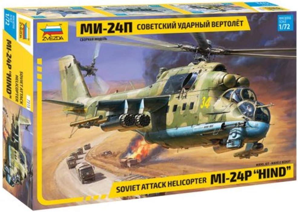 Zvezda 500787315 - Maqueta de helicóptero teledirigido Mi 24P (Escala 1:72 MIL, para Montar en construcción, modelismo de pie, aficiones, Manualidades, Kit de plástico)