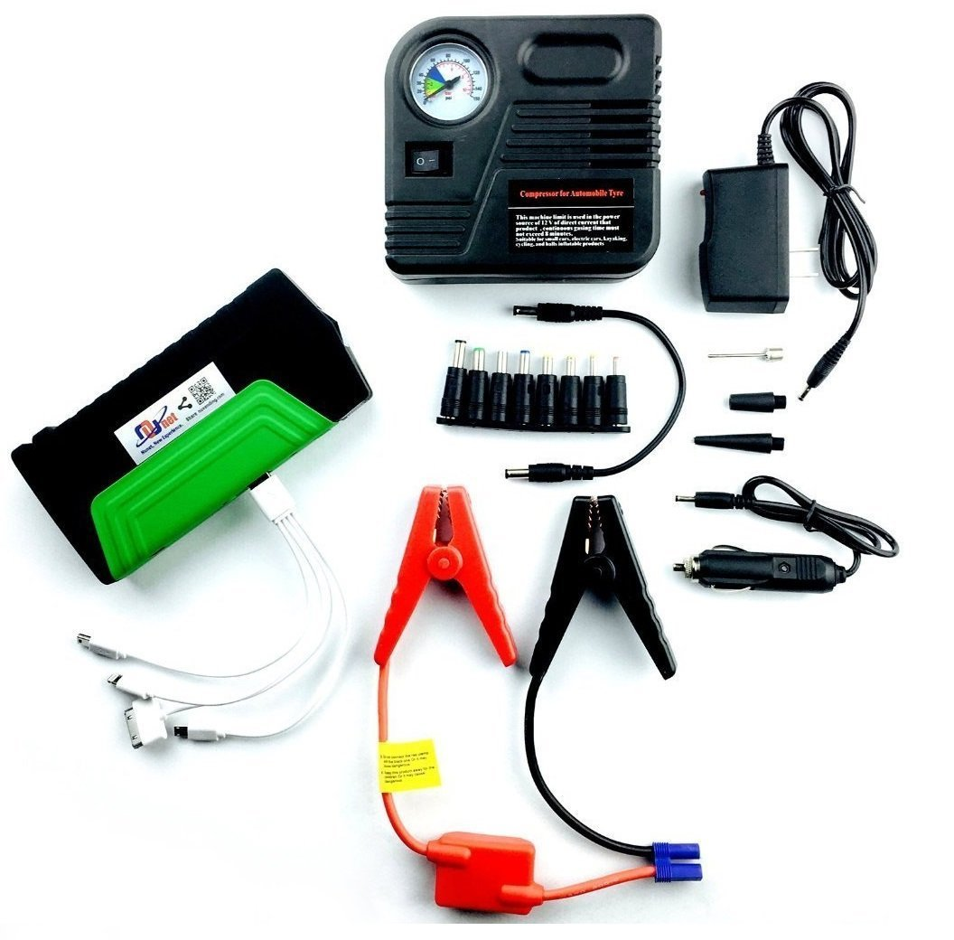 Nucharger PJ16 Multi-function Battery Charger Jump Starter with 12V Portable Air Compressor Nuvending NU-PJ16