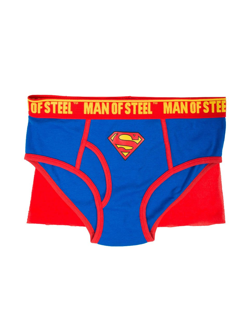 Briefly Stated Superman Caped Brief Underwear for Men BS-17SP0571FSD-P