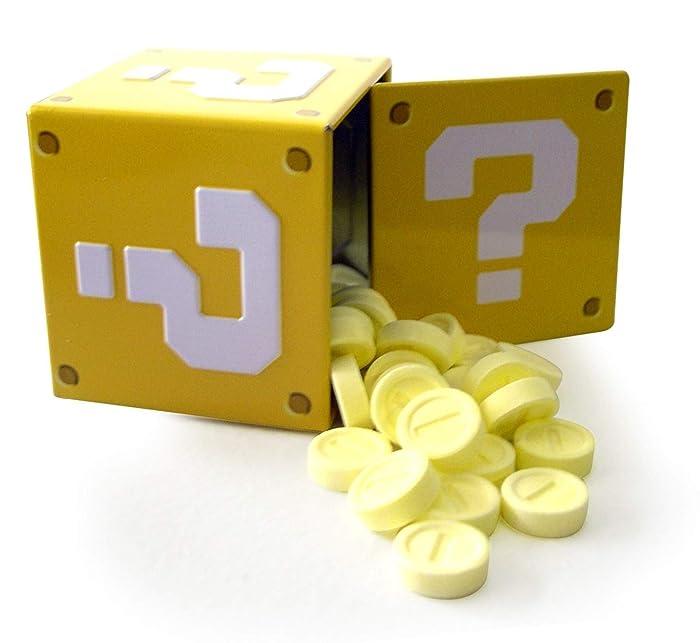 Mario Bros Question Mark Box Coin Candies Display, Sour Strawberry, 1.2OZ