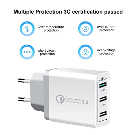 4D XHF30W USB Wall Charger Adapter  White  Mobile Phone Chargers