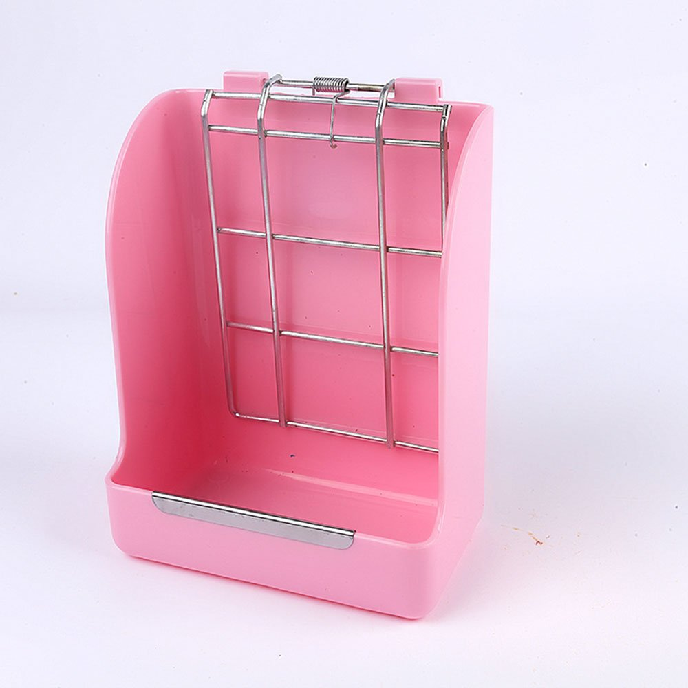 KISSTAKER Hay Rabbit Feeder, Pet Rack Manager for Guinea Pigs Chinchilla (Pink)