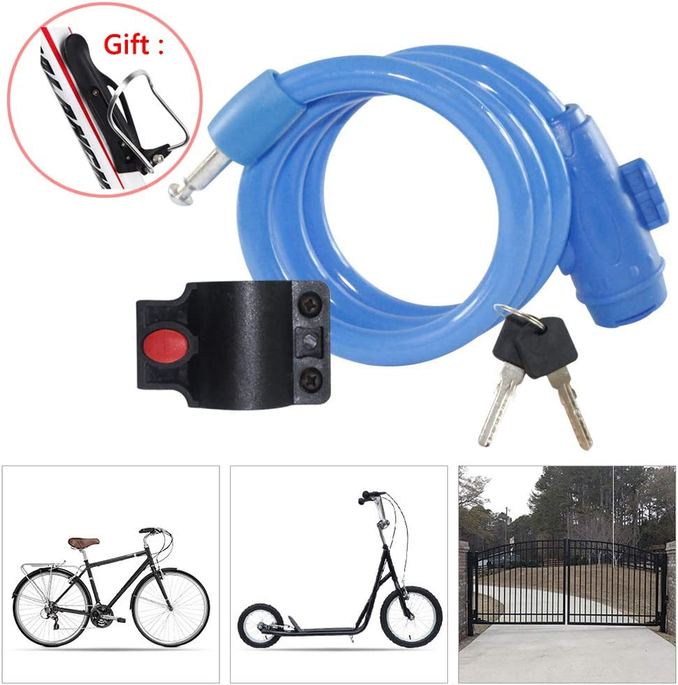 pvc Bicycle Accessories Wire Lock W Durable Anti Thef Tlock Safety Lock Metal
