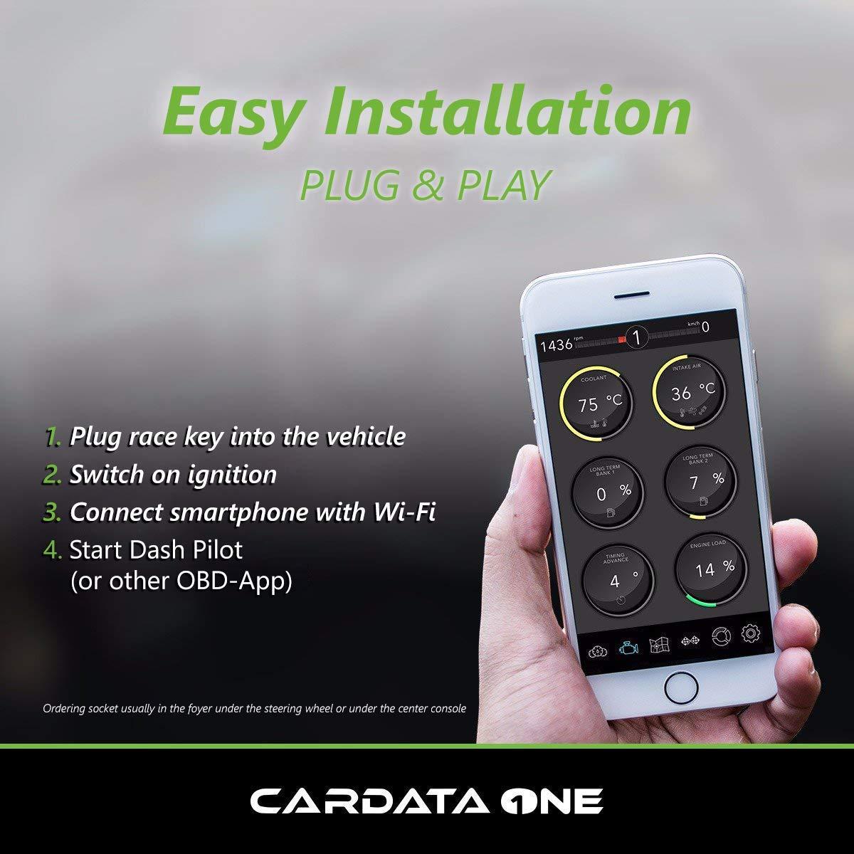 Diagnostico WiFi CARDATA/® OBD iOS versione 2019 Collegare il veicolo tramite OBD2 a iOS Android Interfaccia OBD 2 CAN BUS Tablet e PC