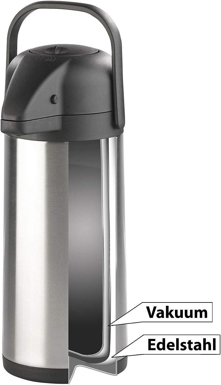 je 3 l 2er-Set doppelwandige Vakuum-Isolierkannen mit Pumpsystem