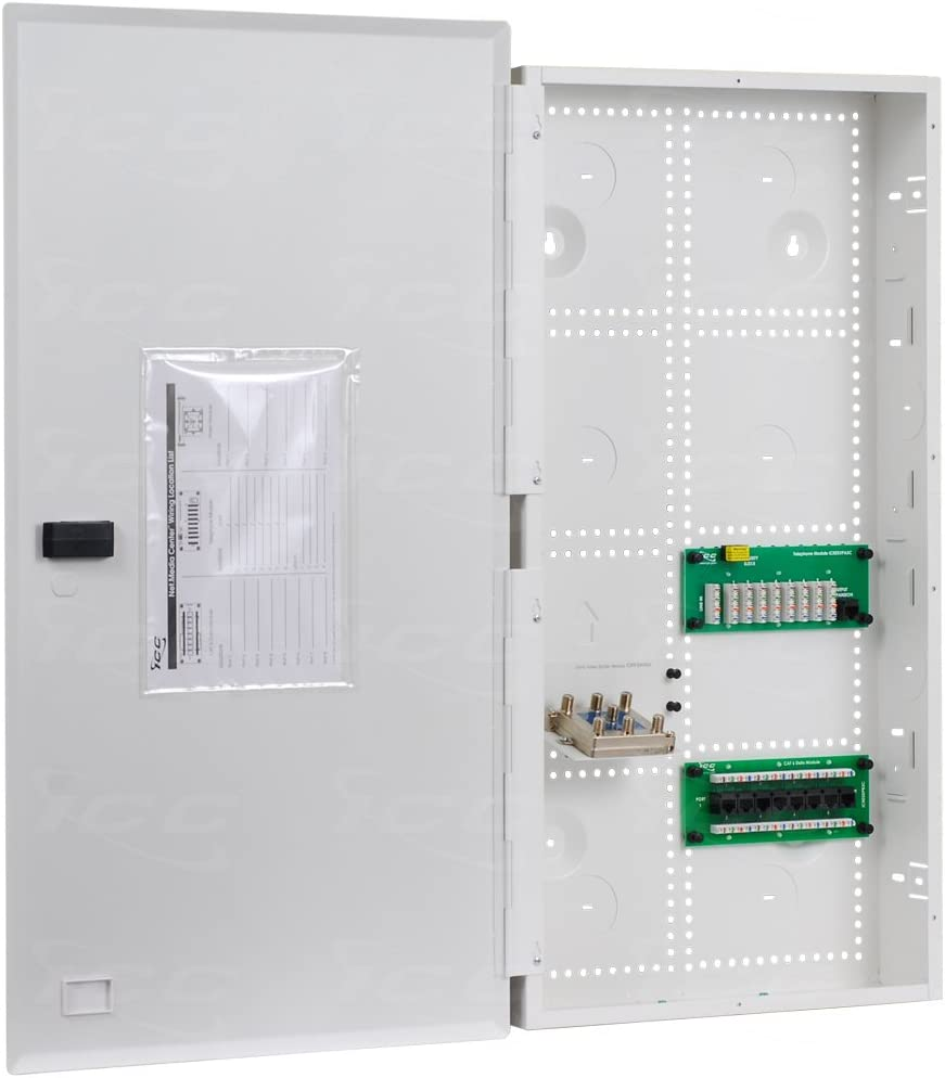 """ICC 28"""" Combo Voice/Data/Video Structured Wiring Enclosure"""