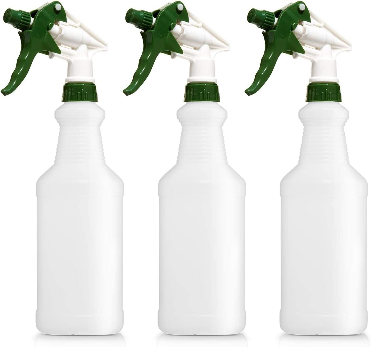 Empty Plastic Spray Bottles, 16 Ounce, Pack of 3, Professional Chemical Resistant, Heavy Duty, Fully Adjustable Head Sprayer: Automotive
