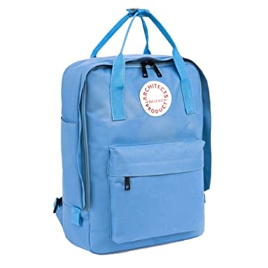 Topey Blank Back Pack Ultralight Book Bags Teens Backpack For Girls Blue