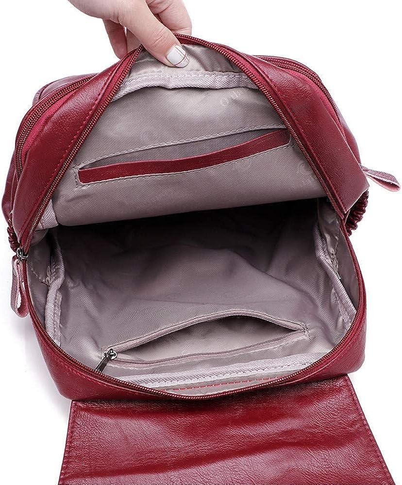 Business Women Zaino Designer Borsa da donna in pelle di alta qualità Borse da scuola moda zaini capienza Borse da viaggio Bagpack Red