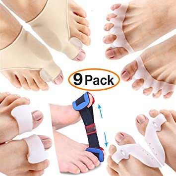 9 Pieces Bunion Corrector and Bunion Relief Kit - Brostown Toe Separator Hallux Valgus Bunion Corrector