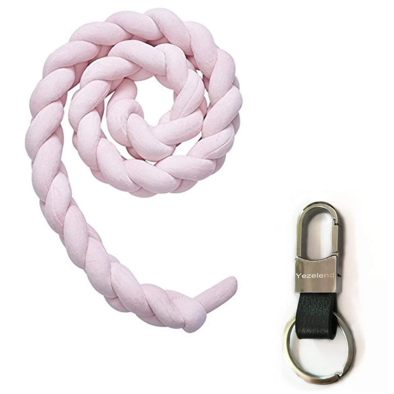 200cm Gaocheng Tour de lit coussin Serpent Coussin Tress/é pare-chocs Velours Protection b/éb/é s/écurit/é 100/% Fait /à Main Doux et Souple