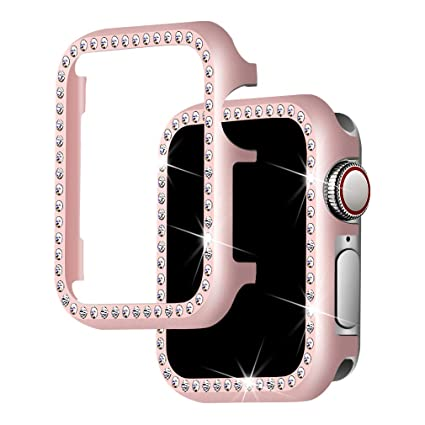 Falandi For Apple Watch Case 38mm, Apple Watch Face Case with Bling Crystal Diamonds Plate iWatch Case cover Protective Frame for Apple Watch Series ...