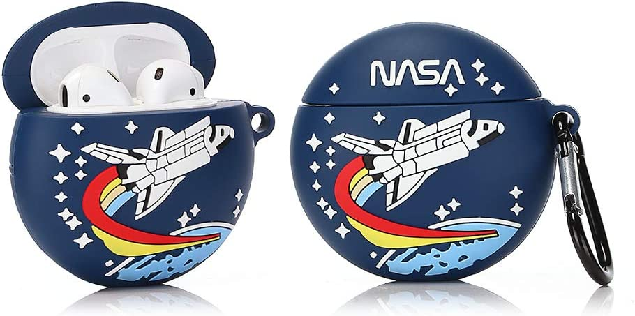 Rocket Popular Ins Style ZAHIUS Airpods Silicone Case Funny Cover Compatible for Apple Airpods 1/&2 Best Gift for Girl Boy