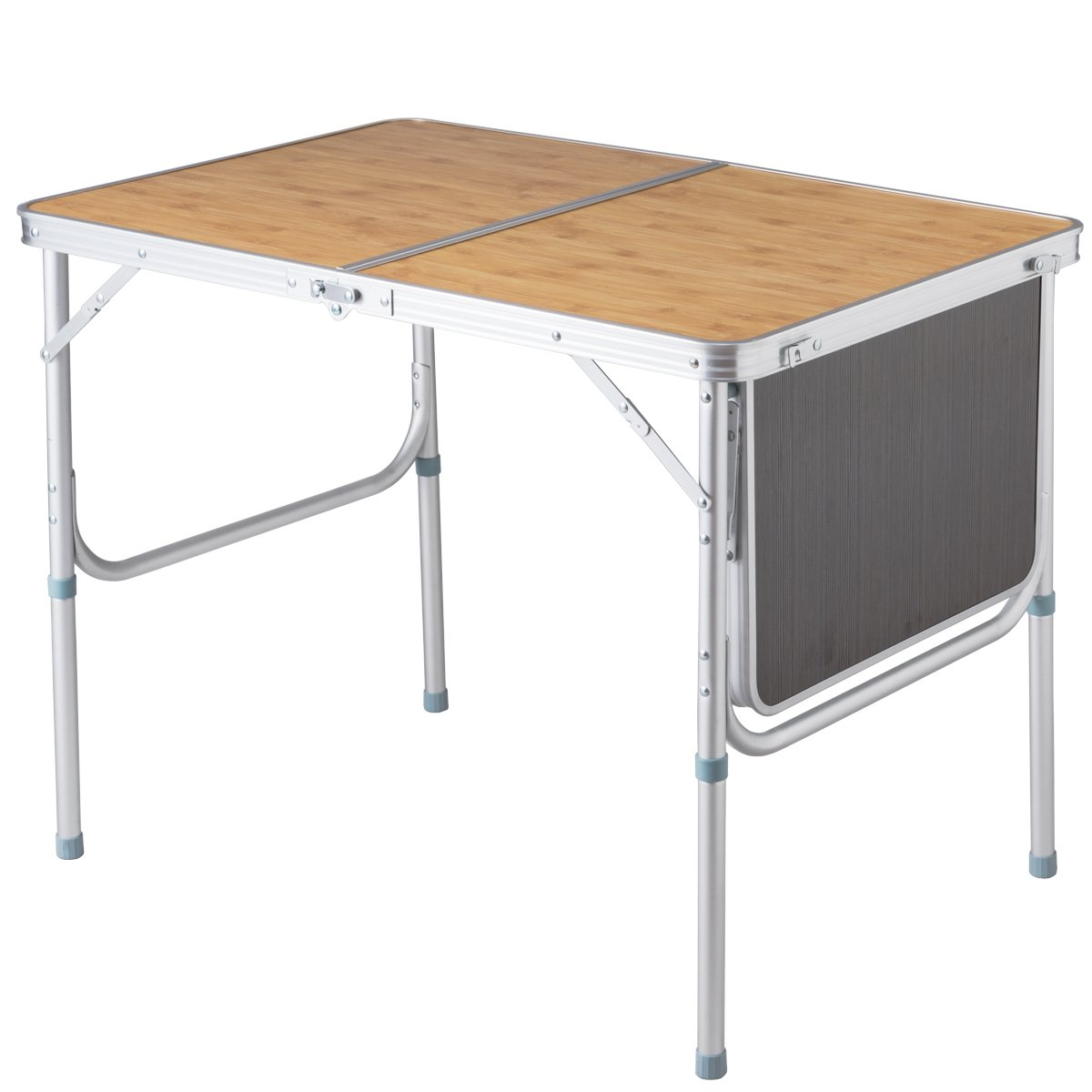 Giantex Portable Aluminum Folding Table Patio Outdoor Picnic Lightweight Indoor Outdoor Party with Stretchable Desktop by Giantex