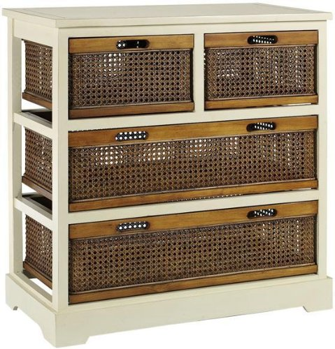 Normandy Double Chest, 4-DRAWER, WHITE