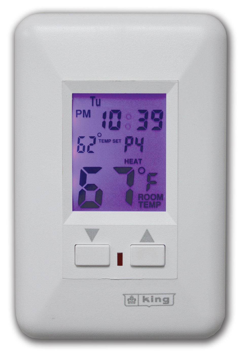 King ESP230-R Electronic Line-Voltage Programmable Thermostat, White ...